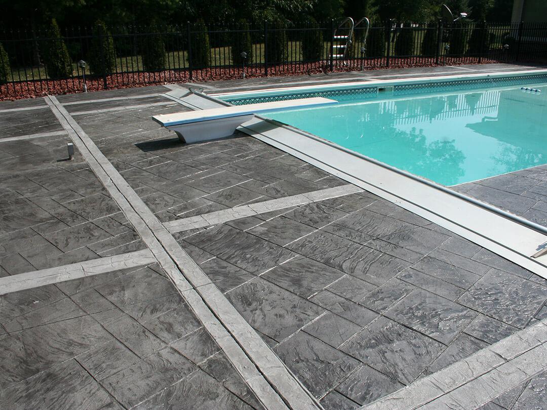 thin stamp pool deck